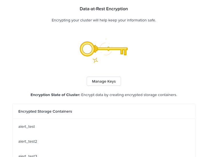 Data Encryption - Enabled (container level)
